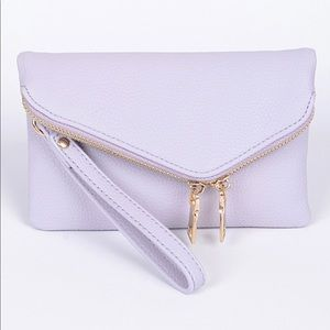 Urban Expressions Lavender Clutch With Chain